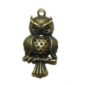 Bronze Owl - Metal Charm