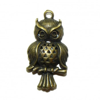 Bronze Owl – Metal Charm