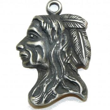 Chief Fine Pewter Pendant