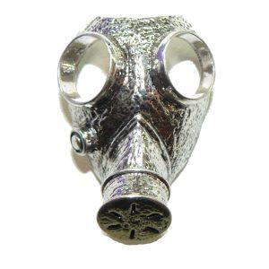 Gas Mask Metal Charm