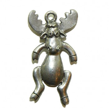 Moose With Swivel Head – Pewter Charm
