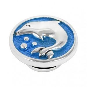 Kameleon JewelPop - Silver Dolphin on Blue Enamel - KJP129B
