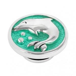 Kameleon JewelPop - Dolphin with Green Enamel - KJP129G