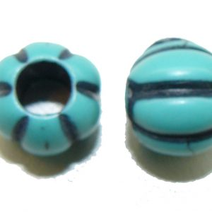 Blue Pumpkin Bead large hole