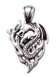 Wood Dragon Fine Pewter Charm