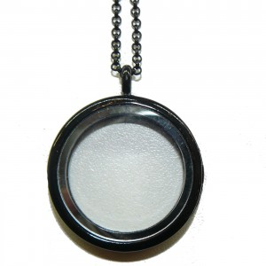 Floating Charm Locket Black