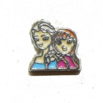 Floating Locket Charm Elsa and Anna