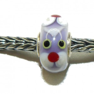 Trollbead Ooak Purple Animal Face