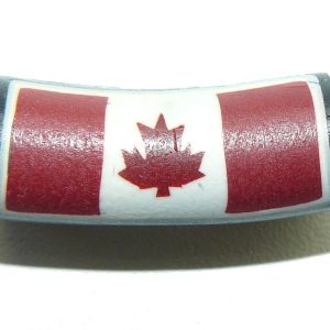 Fimo Bead Canada Flag