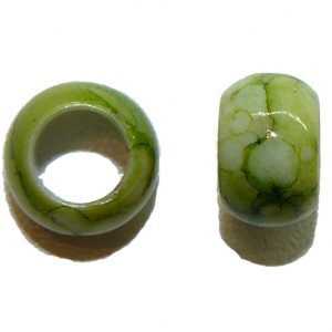 Green Marble Acrylic Bead
