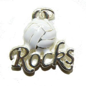 Volleyball Rocks Charm