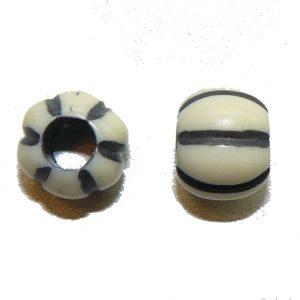 White Pumpkin Bead large hole