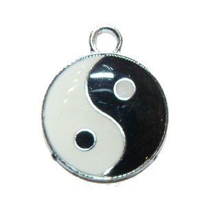 Yin Yang Metal Charm