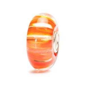 Clear Coral Stripe Bead