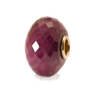 Ruby Bead With Gold Core