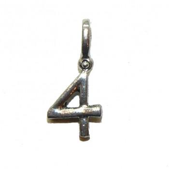 #4 Hanging Pewter Charm