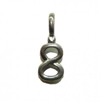 #8 Hanging Pewter Charm