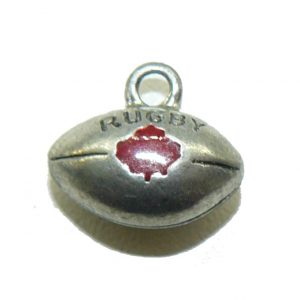 Canada Rugby Ball Pewter Charm