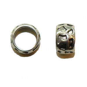 Cheetah Spot Metal Large Hole Bead
