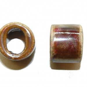 Earthy Ceramic Large Oval Hole Bead