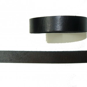 Plain Black Leather Bracelet