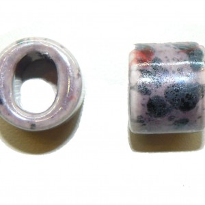 Purple Ceramic Large Oval Hole Bead