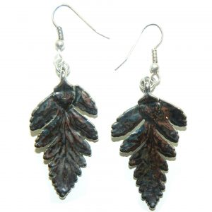 Silver Fern Leaf Earrings
