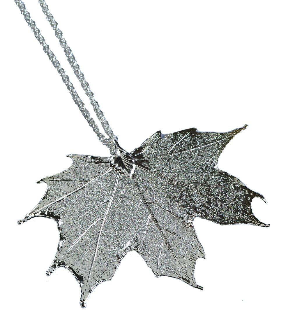 dancing maple necklace white rose fire leaf gold glacier diamond pendant product