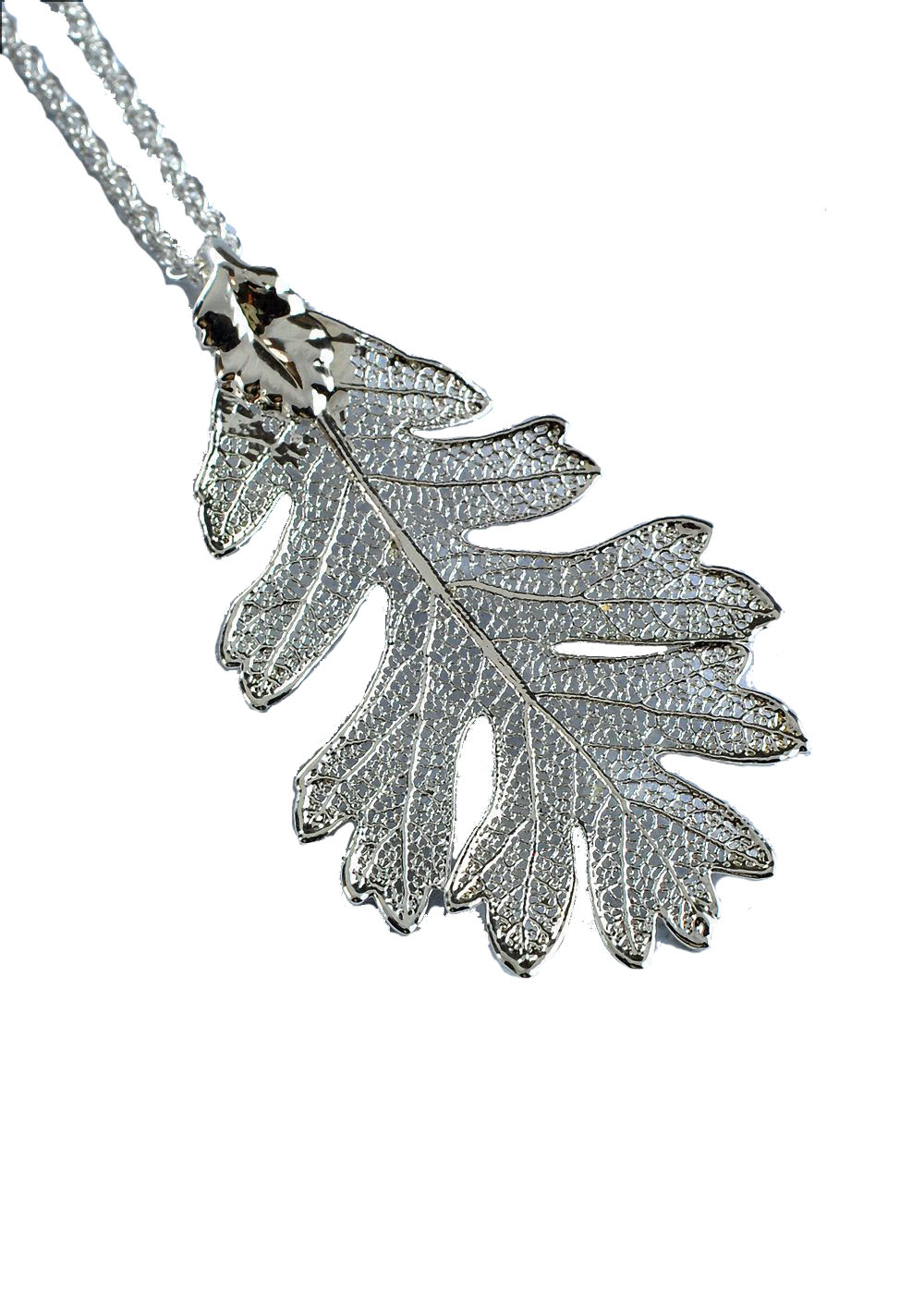 sterling silver chain designed maple pendant bezels htm leaf and bezel p