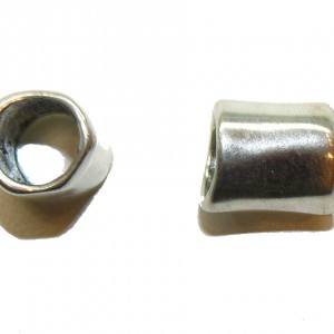 Smooth Warp Large Hole Metal Bead