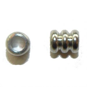 Triple Barrel Metal Bead