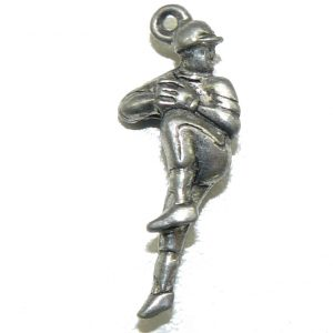 Baseball Pitcher Pewter Charm