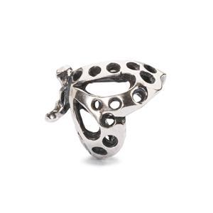 Dancing Butterfly Bead, Silver