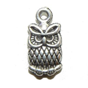 Game Face Owl Metal Charm