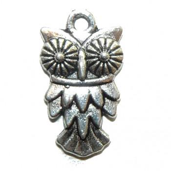 Hiptno Owl Metal Charm