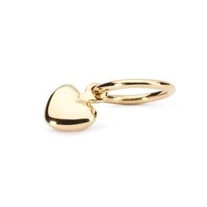 Mini Heart Bead, Gold