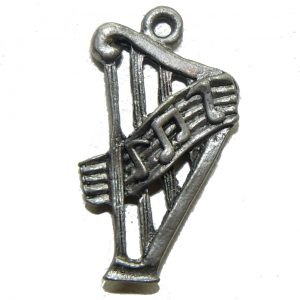 Music Harp Pewter Charm