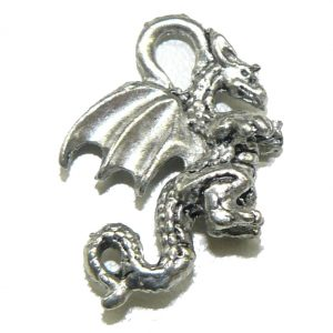 Small Winged Pewter Charm