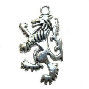 Standing Wolf Metal Charm