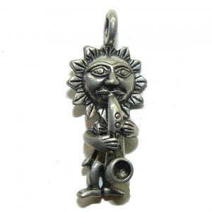 Sun Playing Sax Pewter Charm