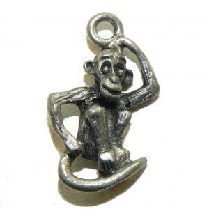 Thinking Monkey Pewter Charm