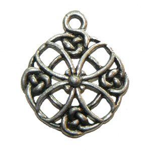 Celtic Circle Flower - Pewter Charm