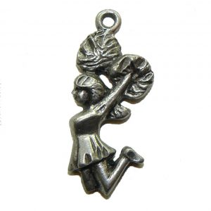 Cheer Leader - Pewter Charm