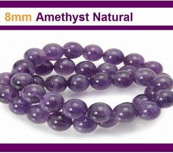 Amethyst 8mm Stone Round bead