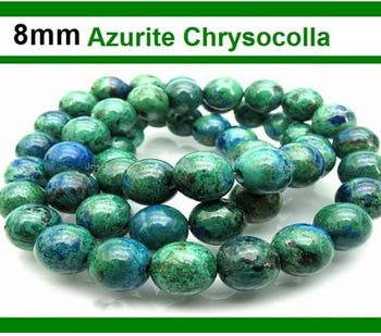Azurite Chrysocolla 8mm Round Beads