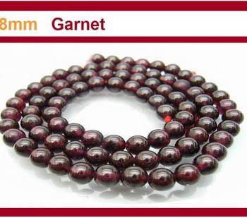 Garnet 8mm Round Bead