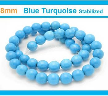 Turquoise stone 8mm beads
