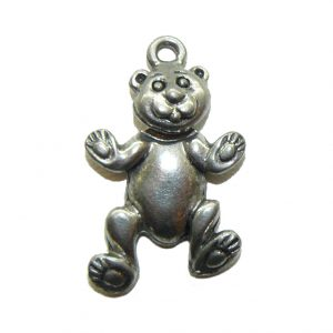 Bear With Swivel Head - Pewter Charm
