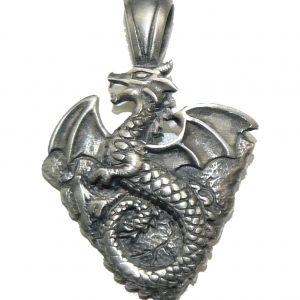 Earth Dragon Pendant – Fine Pewter Pendant