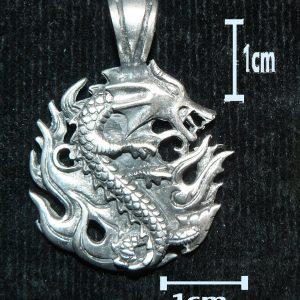 Fire Dragon Pendant – Fine Pewter Pendant